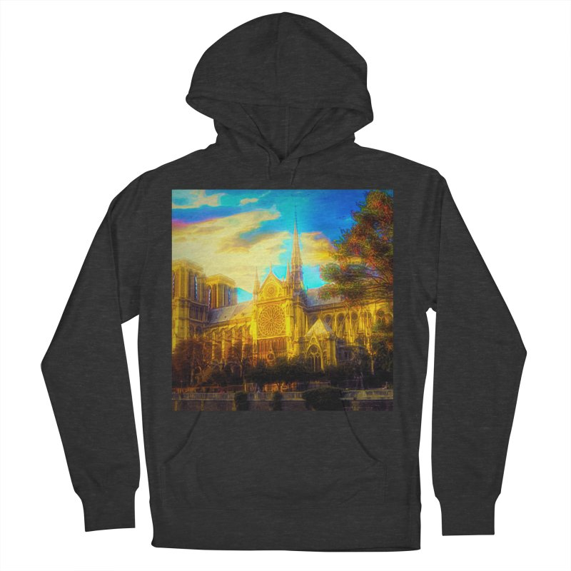 Notre Dame Paris Women's French Terry Pullover Hoody by Jasmina Seidl's Artist Shop