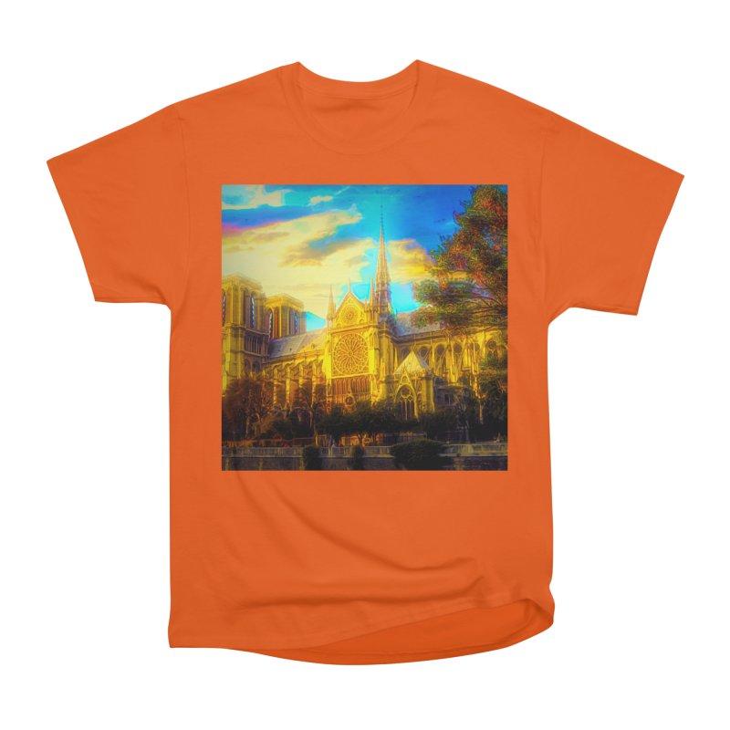 Notre Dame Paris Women's Heavyweight Unisex T-Shirt by Jasmina Seidl's Artist Shop