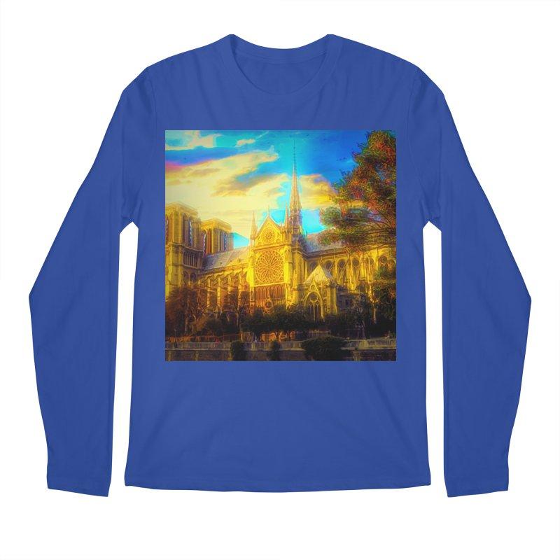 Notre Dame Paris Men's Regular Longsleeve T-Shirt by Jasmina Seidl's Artist Shop