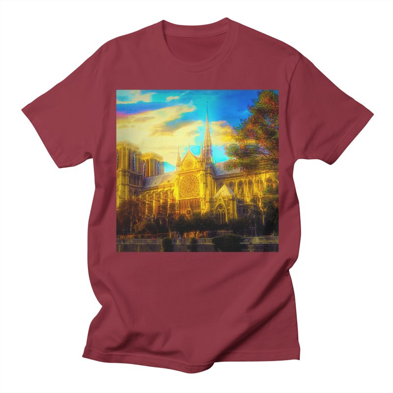 Notre Dame Paris Men's Regular T-Shirt by Jasmina Seidl's Artist Shop