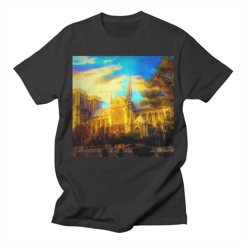 Notre Dame Paris Men's Regular T-Shirt by Jasmina Seidl's Artist Shop