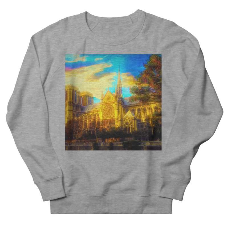 Notre Dame Paris Women's French Terry Sweatshirt by Jasmina Seidl's Artist Shop