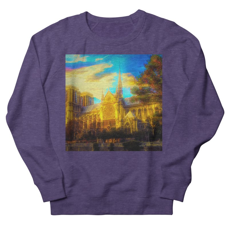 Notre Dame Paris Men's French Terry Sweatshirt by Jasmina Seidl's Artist Shop