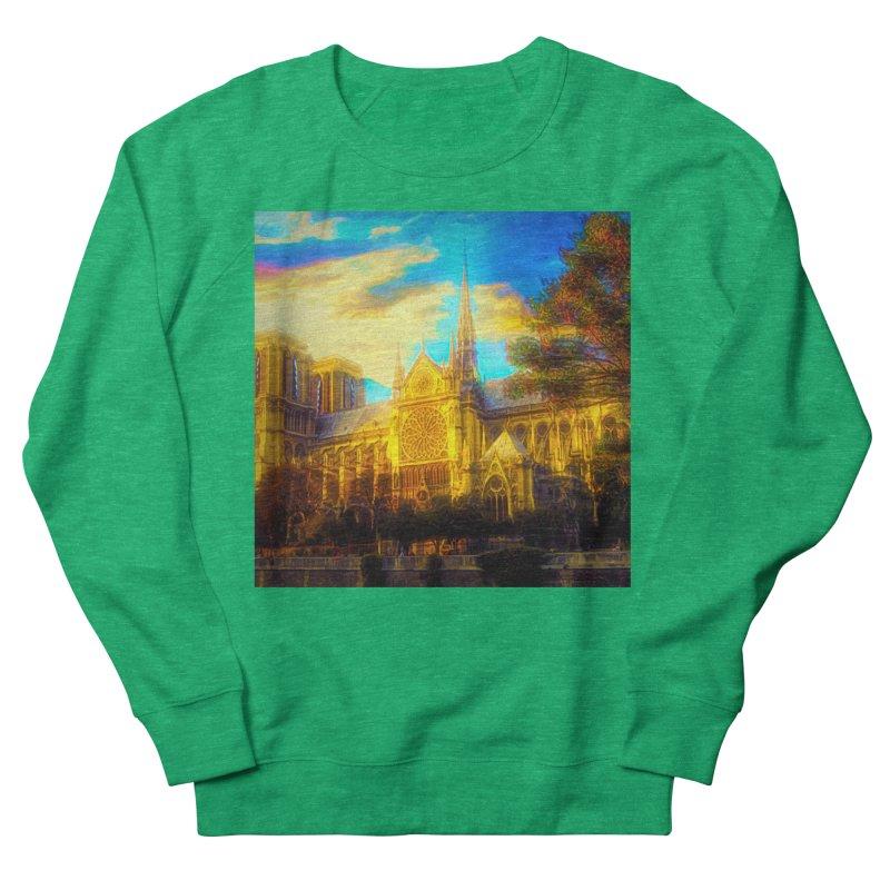 Notre Dame Paris Men's French Terry Sweatshirt by Jasmina Seidl's Artist Shop