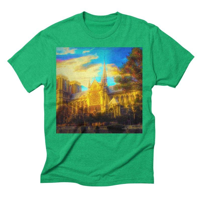 Notre Dame Paris Men's Triblend T-Shirt by Jasmina Seidl's Artist Shop