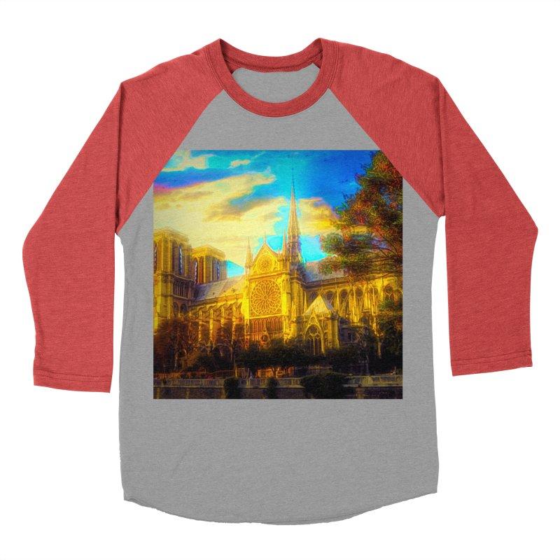 Notre Dame Paris Women's Baseball Triblend Longsleeve T-Shirt by Jasmina Seidl's Artist Shop