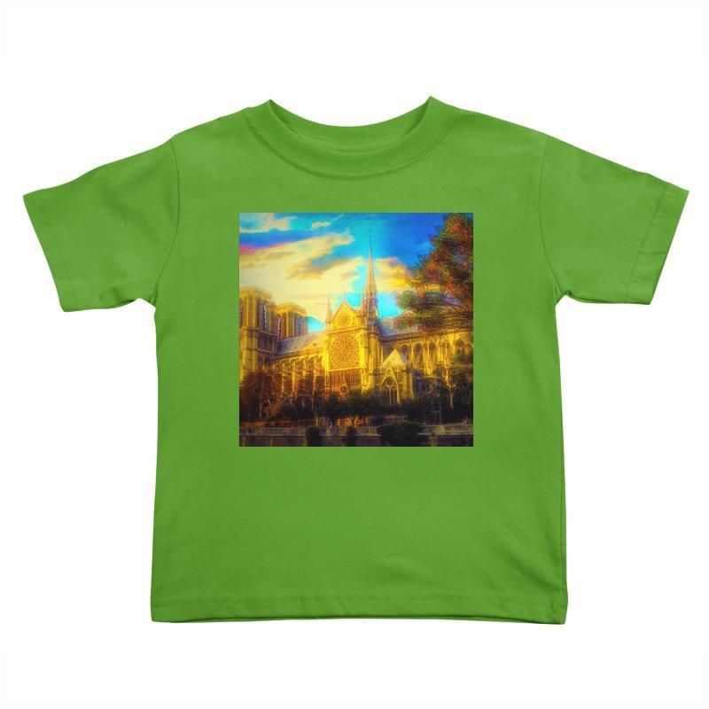 Notre Dame Paris Kids Toddler T-Shirt by Jasmina Seidl's Artist Shop