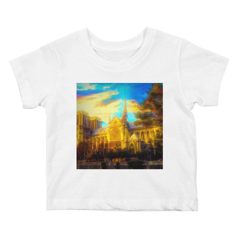 Notre Dame Paris Kids Baby T-Shirt by Jasmina Seidl's Artist Shop