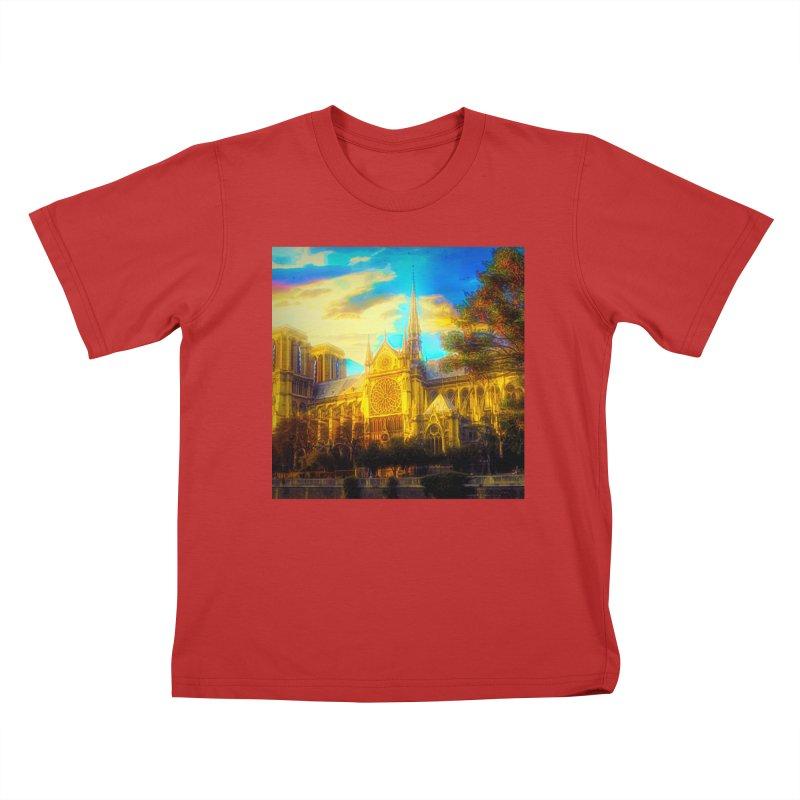 Notre Dame Paris Kids T-Shirt by Jasmina Seidl's Artist Shop