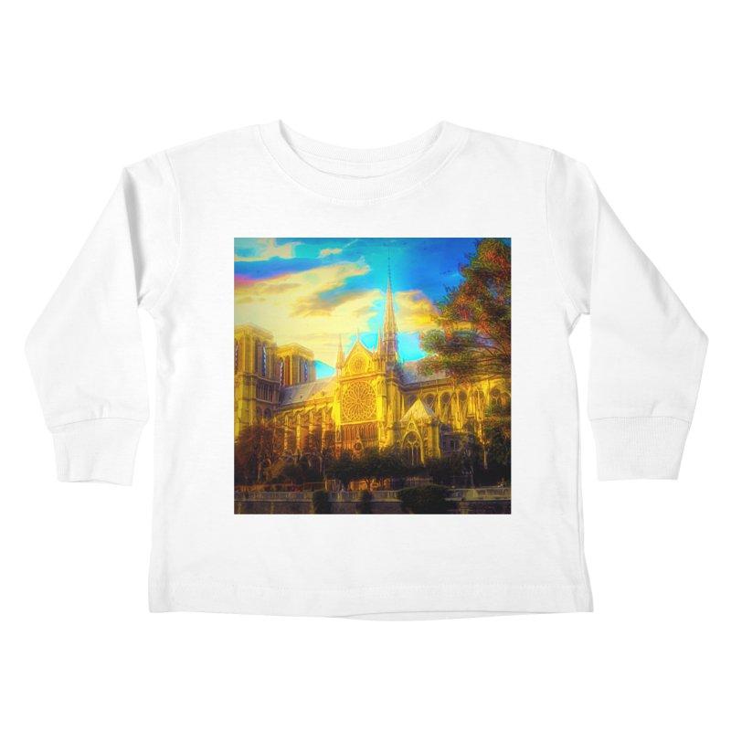 Notre Dame Paris Kids Toddler Longsleeve T-Shirt by Jasmina Seidl's Artist Shop