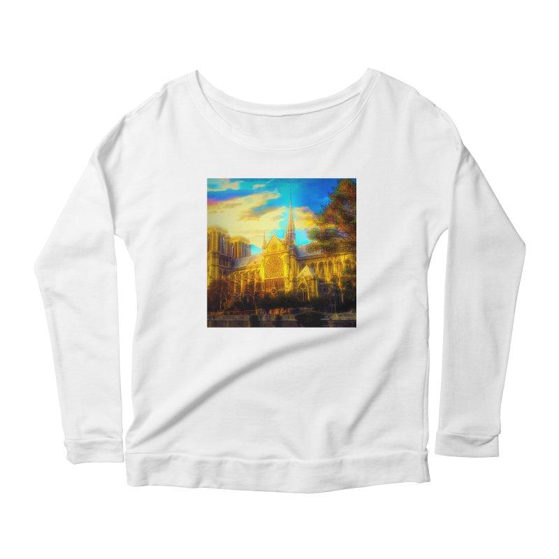 Notre Dame Paris Women's Scoop Neck Longsleeve T-Shirt by Jasmina Seidl's Artist Shop