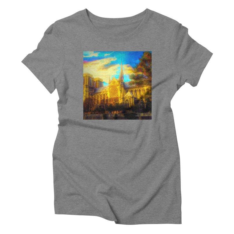 Notre Dame Paris Women's Triblend T-Shirt by Jasmina Seidl's Artist Shop