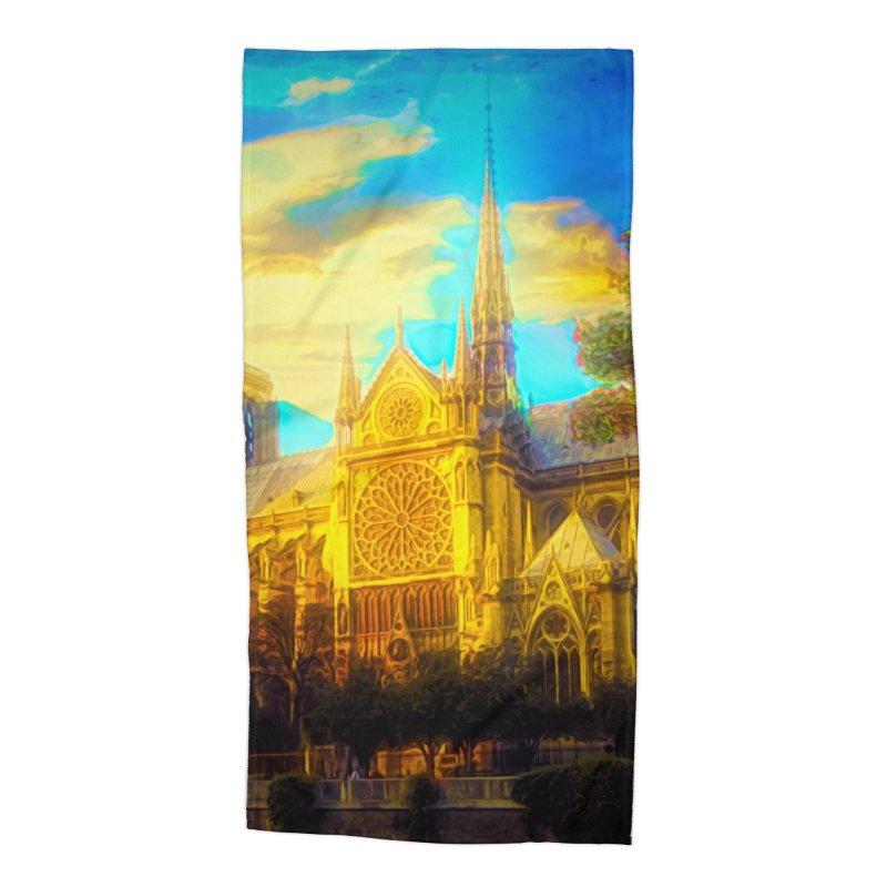 Notre Dame Paris Accessories Beach Towel by Jasmina Seidl's Artist Shop
