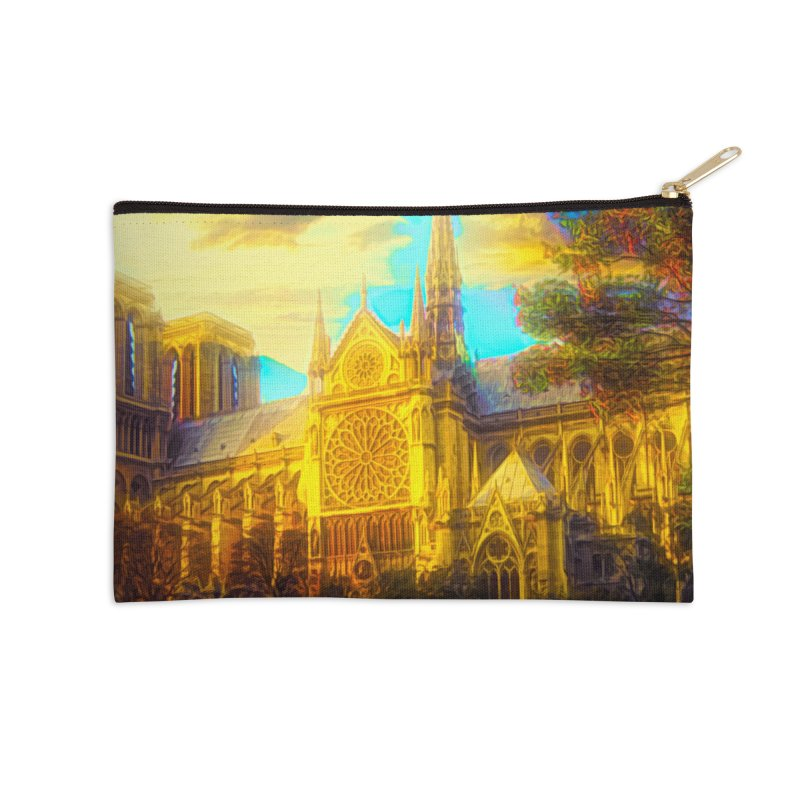 Notre Dame Paris Accessories Zip Pouch by Jasmina Seidl's Artist Shop