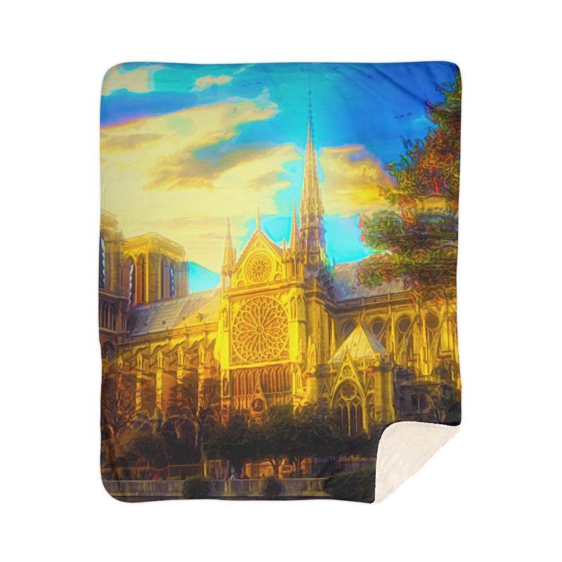Notre Dame Paris Home Sherpa Blanket Blanket by Jasmina Seidl's Artist Shop