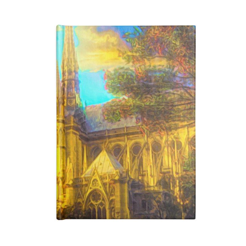 Notre Dame Paris Accessories Lined Journal Notebook by Jasmina Seidl's Artist Shop