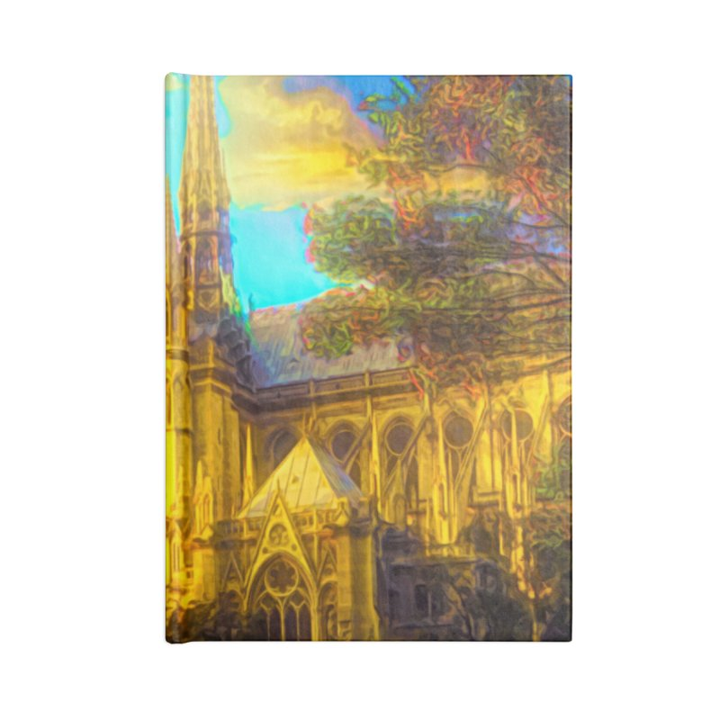 Notre Dame Paris Accessories Blank Journal Notebook by Jasmina Seidl's Artist Shop