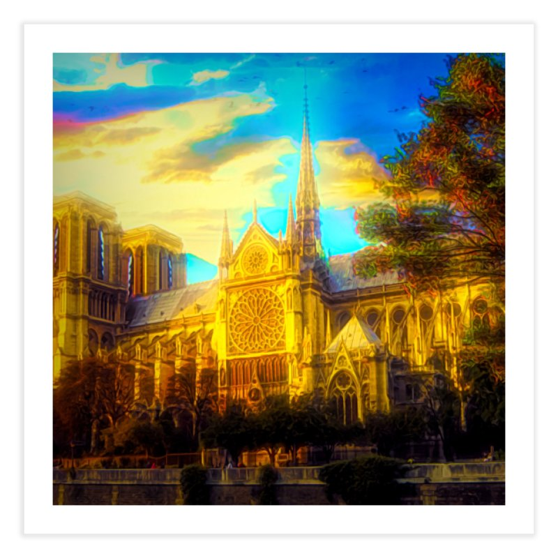 Notre Dame Paris Home Fine Art Print by Jasmina Seidl's Artist Shop