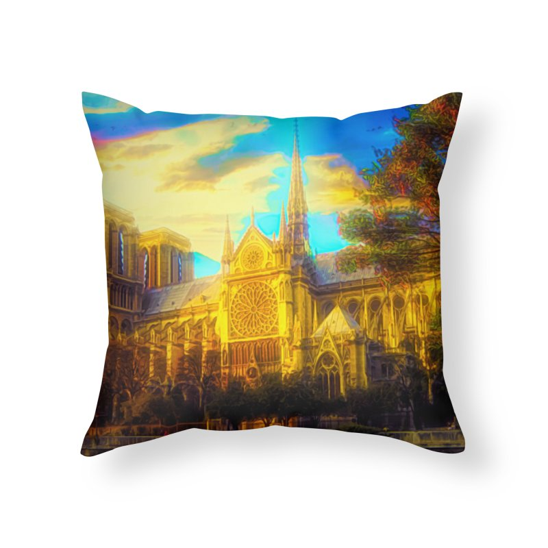 Notre Dame Paris Home Throw Pillow by Jasmina Seidl's Artist Shop
