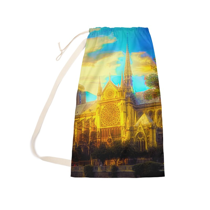 Notre Dame Paris Accessories Laundry Bag Bag by Jasmina Seidl's Artist Shop