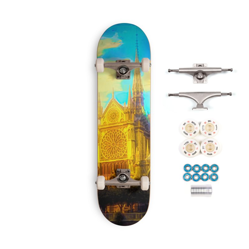 Notre Dame Paris Accessories Complete - Premium Skateboard by Jasmina Seidl's Artist Shop