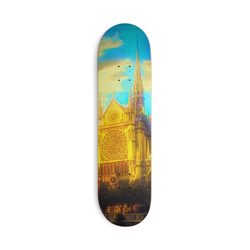 Notre Dame Paris Accessories Deck Only Skateboard by Jasmina Seidl's Artist Shop