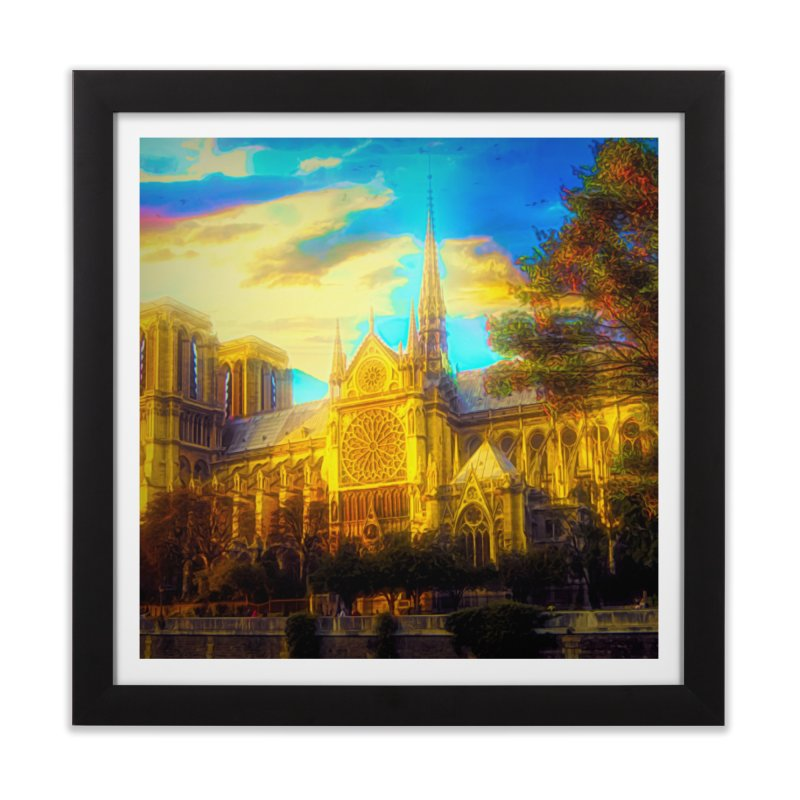 Notre Dame Paris Home Framed Fine Art Print by Jasmina Seidl's Artist Shop