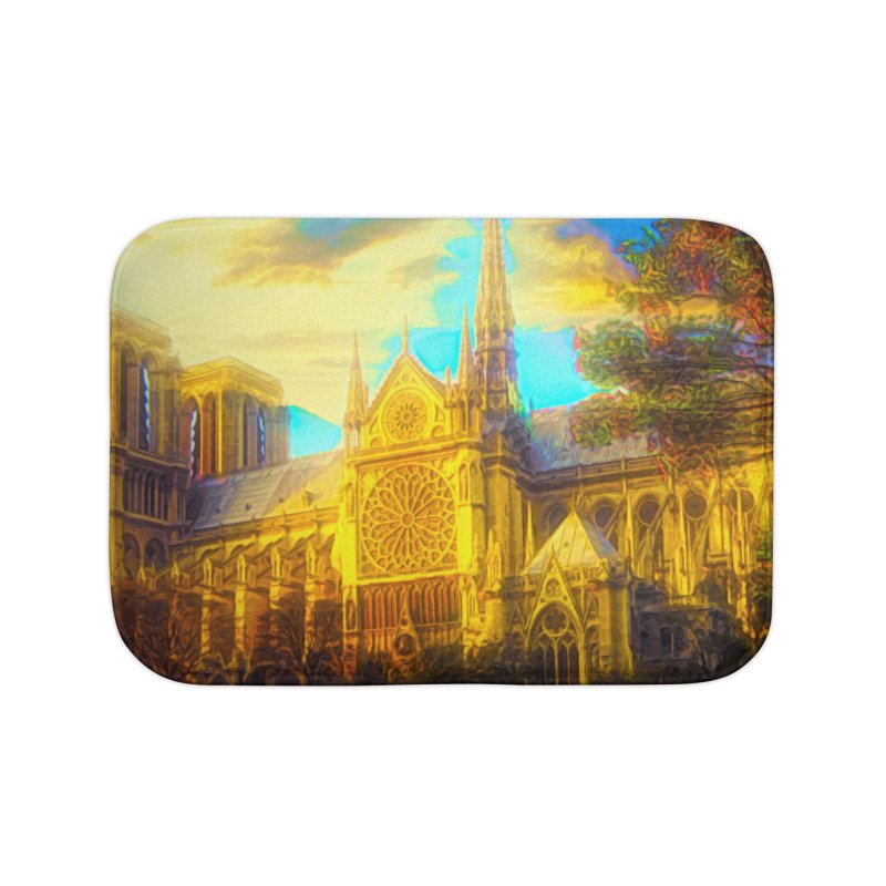Notre Dame Paris Home Bath Mat by Jasmina Seidl's Artist Shop