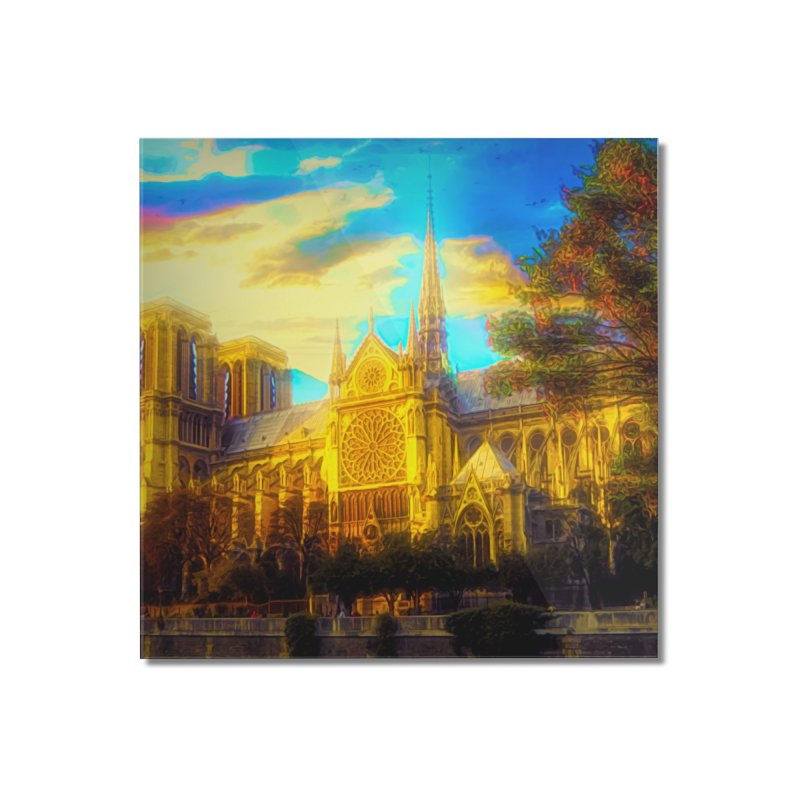 Notre Dame Paris Home Mounted Acrylic Print by Jasmina Seidl's Artist Shop