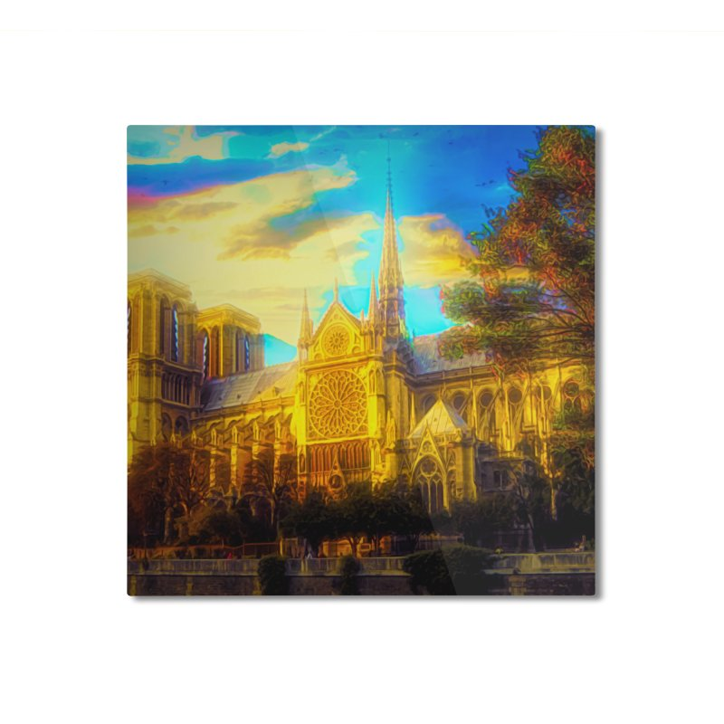 Notre Dame Paris Home Mounted Aluminum Print by Jasmina Seidl's Artist Shop