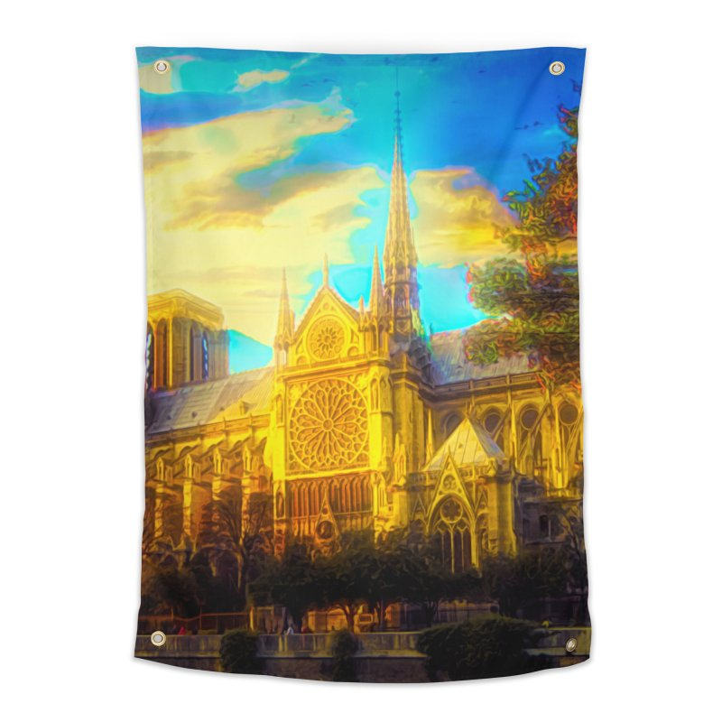 Notre Dame Paris Home Tapestry by Jasmina Seidl's Artist Shop