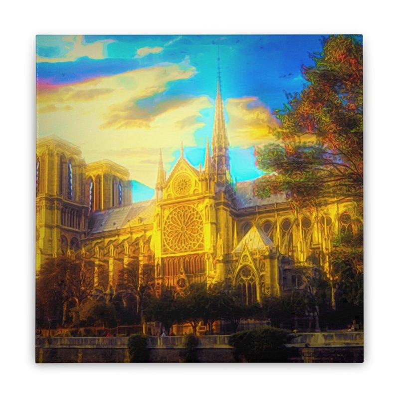 Notre Dame Paris Home Stretched Canvas by Jasmina Seidl's Artist Shop