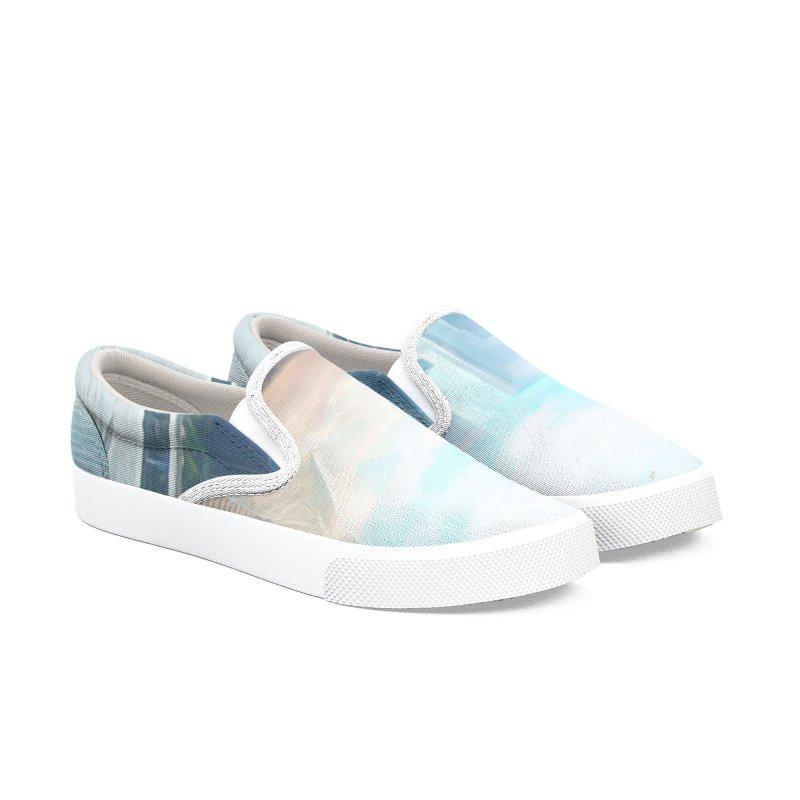 Skyline Men's Slip-On Shoes by Jasmina Seidl's Artist Shop