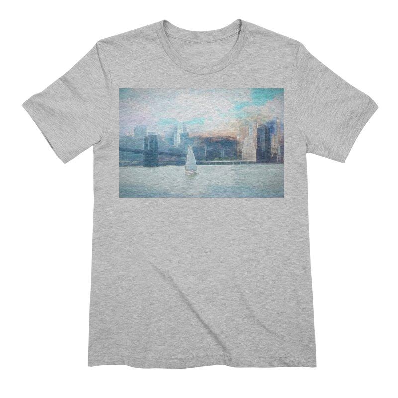 Skyline Men's Extra Soft T-Shirt by Jasmina Seidl's Artist Shop