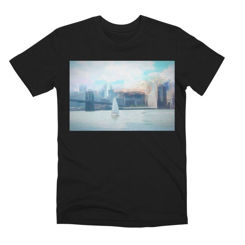 Skyline Men's Premium T-Shirt by Jasmina Seidl's Artist Shop