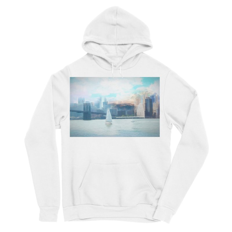 Skyline Women's Sponge Fleece Pullover Hoody by Jasmina Seidl's Artist Shop