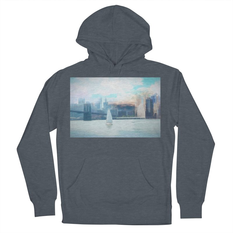 Skyline Women's French Terry Pullover Hoody by Jasmina Seidl's Artist Shop