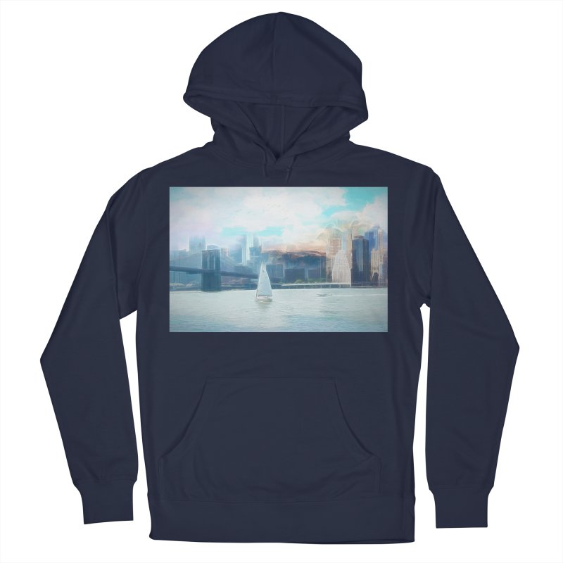 Skyline Men's French Terry Pullover Hoody by Jasmina Seidl's Artist Shop