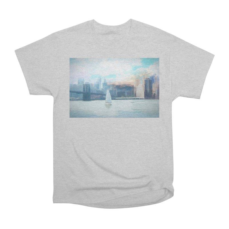 Skyline Women's Heavyweight Unisex T-Shirt by Jasmina Seidl's Artist Shop