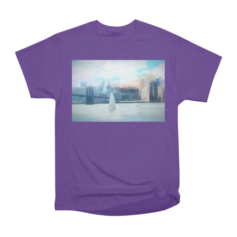 Skyline Men's Heavyweight T-Shirt by Jasmina Seidl's Artist Shop