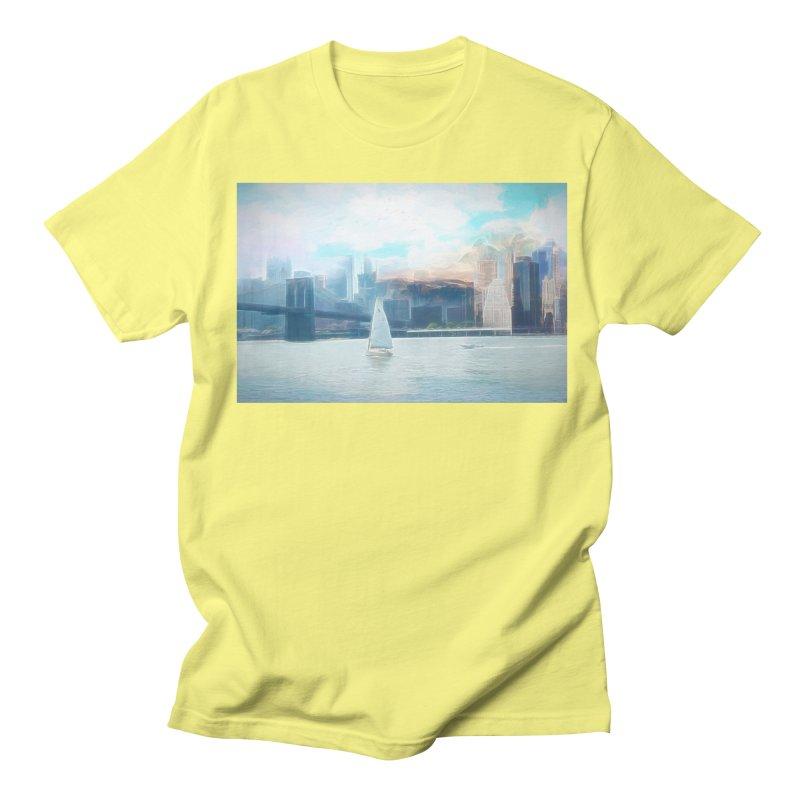 Skyline Men's Regular T-Shirt by Jasmina Seidl's Artist Shop
