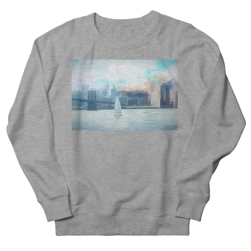 Skyline Women's French Terry Sweatshirt by Jasmina Seidl's Artist Shop