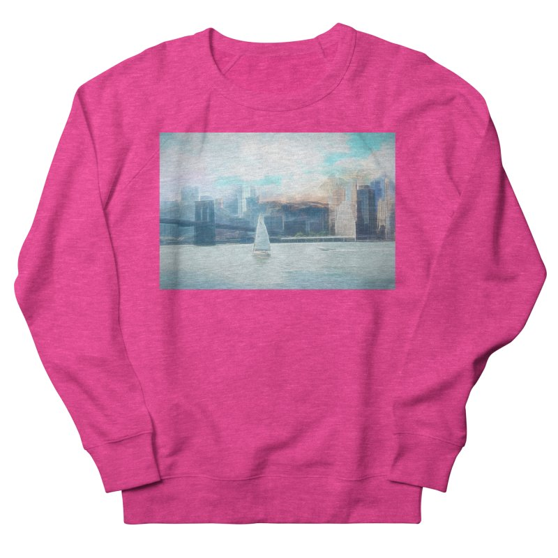 Skyline Women's French Terry Sweatshirt by Jasmina Seidl's Artist Shop