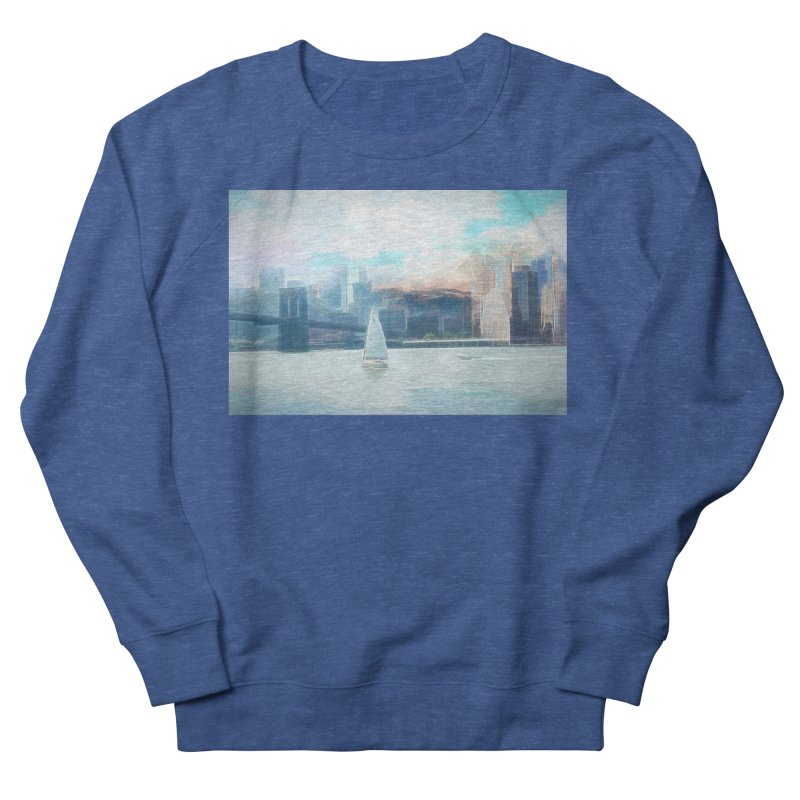 Skyline Men's French Terry Sweatshirt by Jasmina Seidl's Artist Shop
