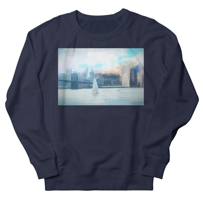 Skyline Men's French Terry Sweatshirt by Jasmina Seidl's Artist Shop