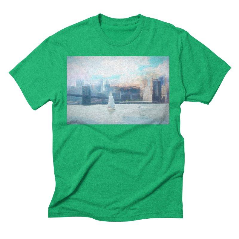 Skyline Men's Triblend T-Shirt by Jasmina Seidl's Artist Shop