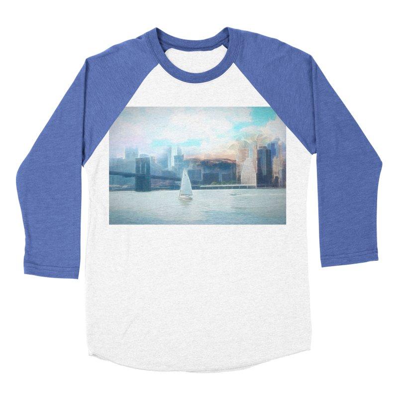 Skyline Women's Baseball Triblend Longsleeve T-Shirt by Jasmina Seidl's Artist Shop