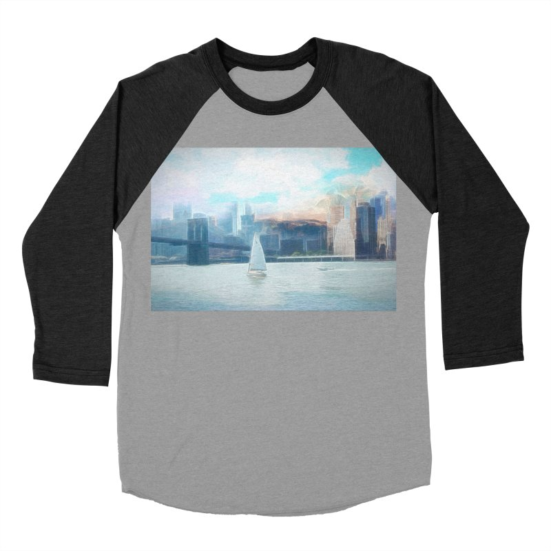 Skyline Men's Baseball Triblend Longsleeve T-Shirt by Jasmina Seidl's Artist Shop