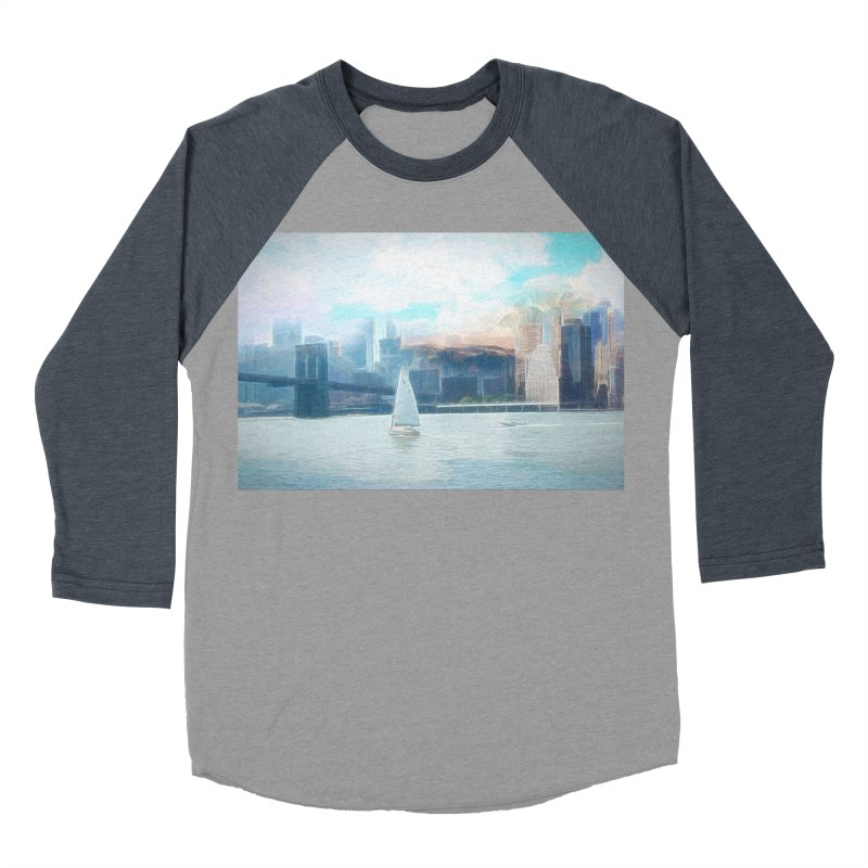 Skyline Men's Baseball Triblend Longsleeve T-Shirt by Jasmina Seidl's Artist Shop