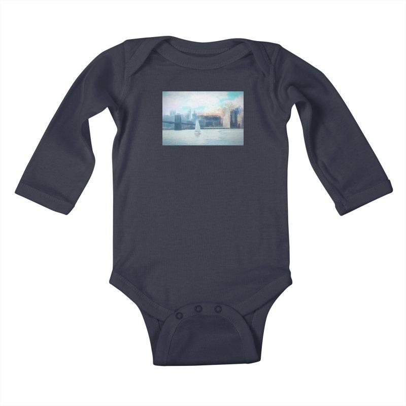 Skyline Kids Baby Longsleeve Bodysuit by Jasmina Seidl's Artist Shop
